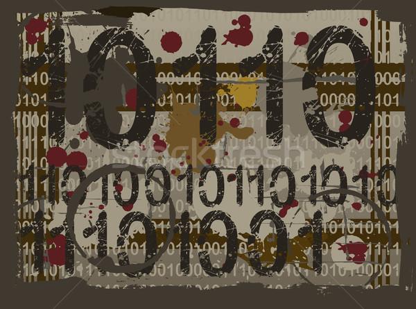 Grunge acide nombre vecteur Photo stock © PokerMan