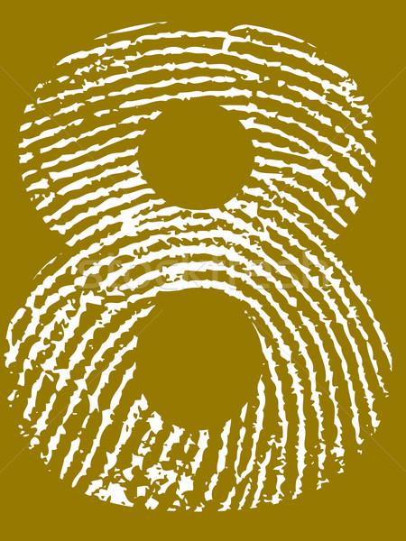 Fingerprint Number 8 Stock photo © PokerMan