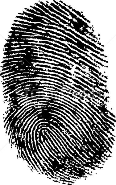 Vingerafdruk zwart wit vector transparant kan ander Stockfoto © PokerMan