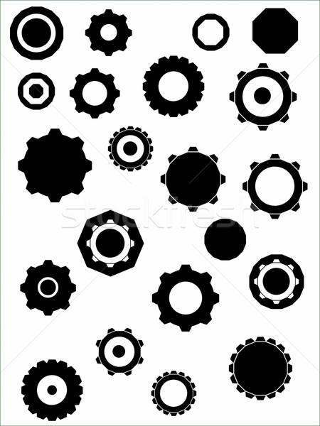 Industrial Graphic elements - Cogs and wheels Stock photo © PokerMan
