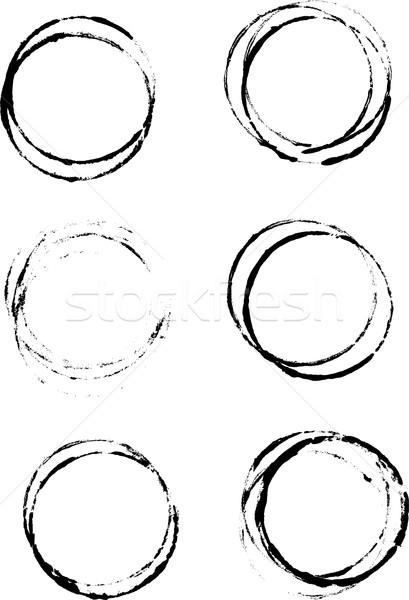 Grunge tasse anneaux détaillée vecteur Photo stock © PokerMan