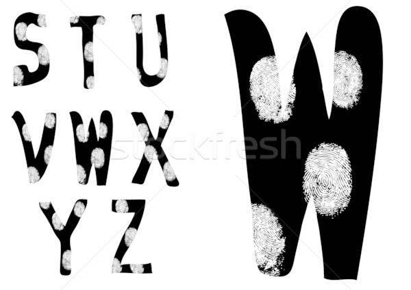 Empreintes alphabet plein rue Photo stock © PokerMan