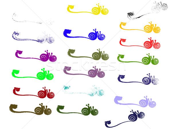 Grunge elements - Snail Borders Stock photo © PokerMan