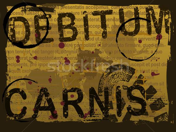 Latin Text Grunge Background 3 Stock photo © PokerMan