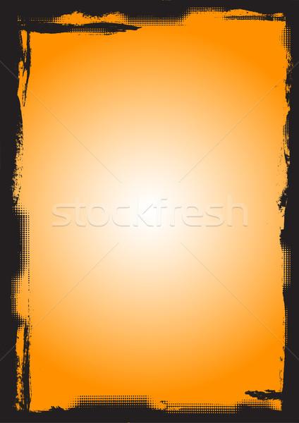 Full Page black border with fading circles Stock photo © PokerMan