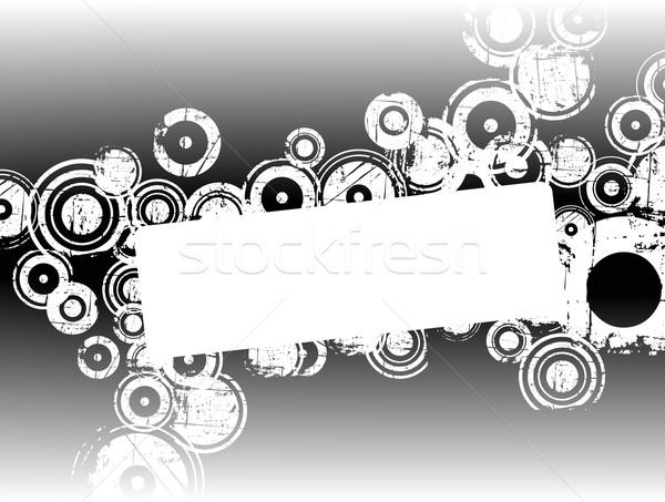 белый Гранж Круги копия пространства черный дизайна Сток-фото © PokerMan