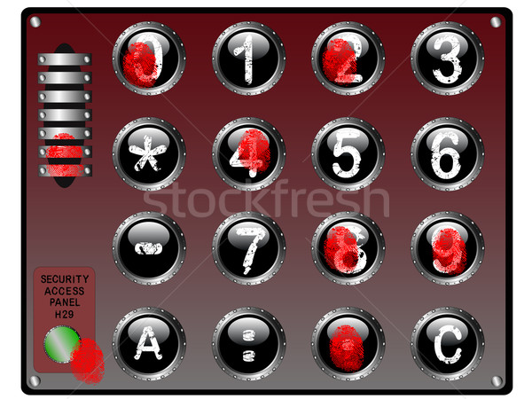 Bio Keypad Stock photo © PokerMan