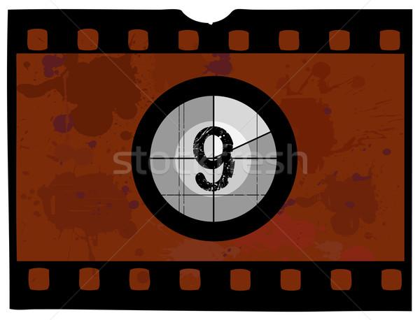 映画 カウントダウン フレーム 画面 ストックフォト © PokerMan