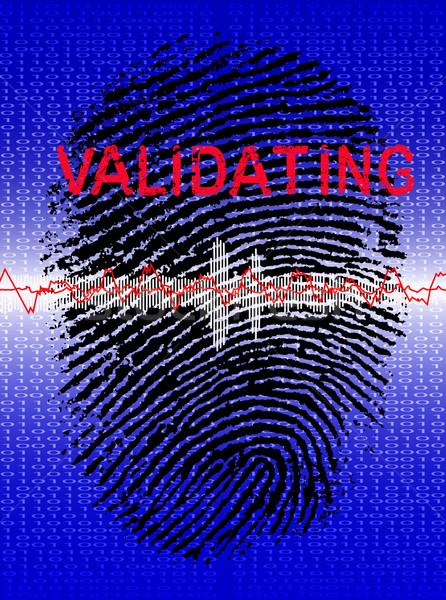 Fingerprint on a Biometric Scanner Stock photo © PokerMan