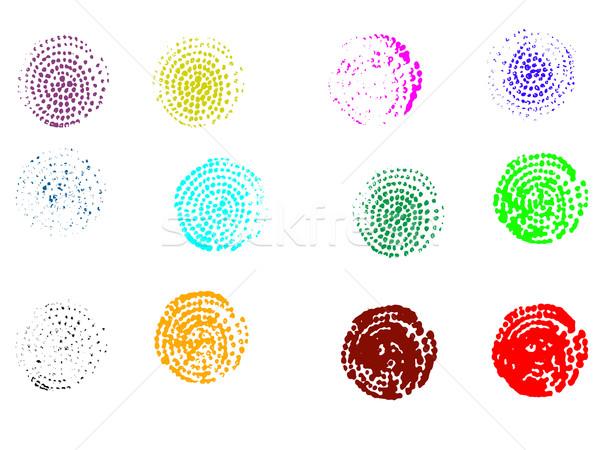 12 spirál grafikus elemek rendkívül részletes Stock fotó © PokerMan
