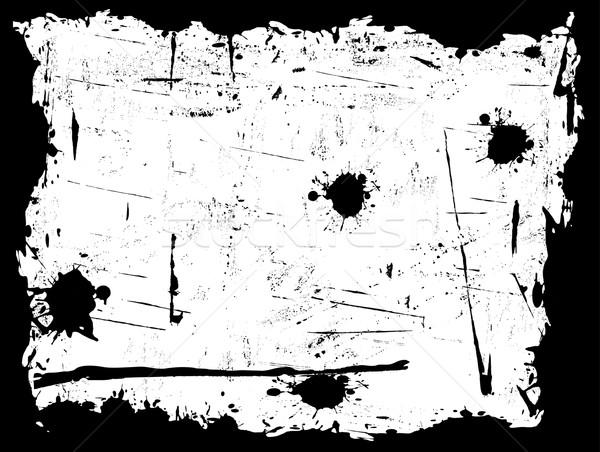 Black Grunged Border with White Background Stock photo © PokerMan