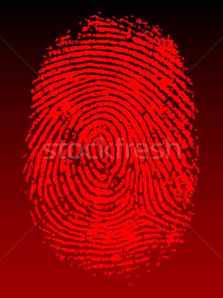 красный отпечатков пальцев вектора черный прозрачный можете Сток-фото © PokerMan