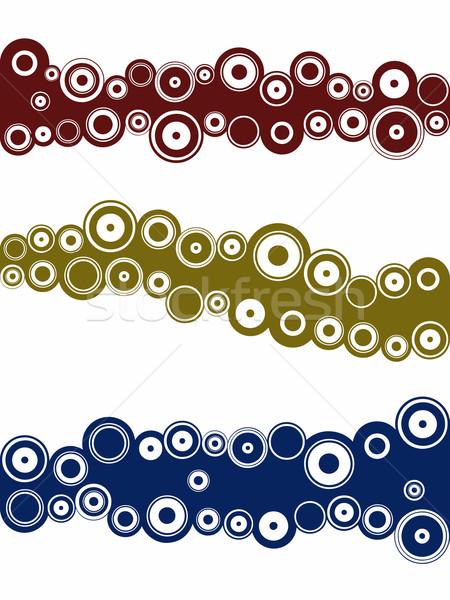 пейзаж графических Элементы Круги отдельный Сток-фото © PokerMan