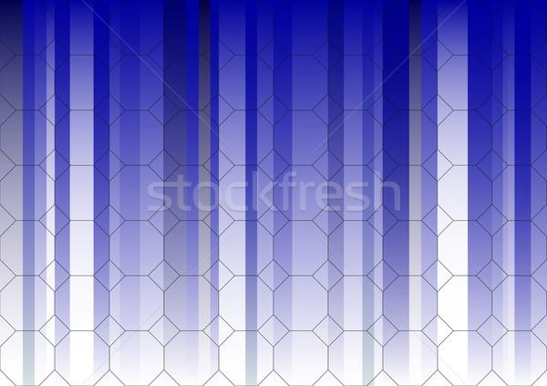 Hexagonal Blue Fading Business Graphic Stock photo © PokerMan