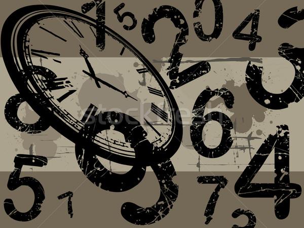 часы Гранж старые числа стороны лице Сток-фото © PokerMan