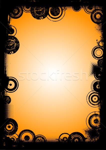 Noir frontière plein page transparent Photo stock © PokerMan