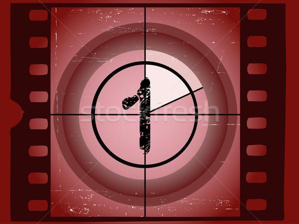 старые красный фильма обратный отсчет нет кадр Сток-фото © PokerMan