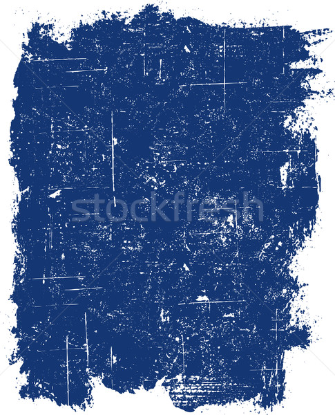 Grunge bleu carré détaillée Photo stock © PokerMan