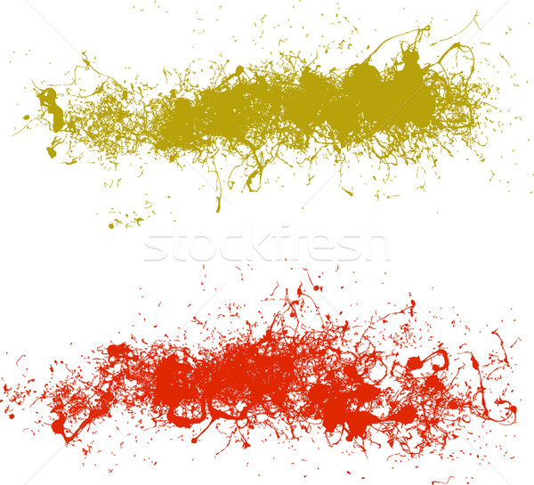 2 Long Vector Splats Stock photo © PokerMan