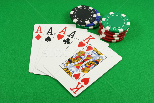 Quad Aces Stock photo © PokerMan