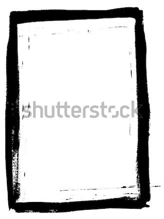 полный черный окрашенный границе прозрачный вектора Сток-фото © PokerMan