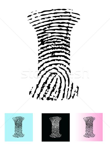 Fingerprint Alphabet Letter I Stock photo © PokerMan