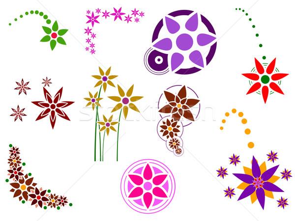 цветок Элементы графических 10 отдельный легкий Сток-фото © PokerMan