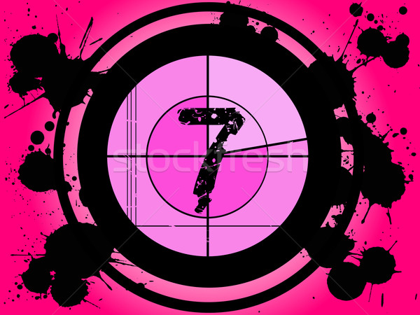 ピンク 映画 カウントダウン 番号 フレーム ストックフォト © PokerMan