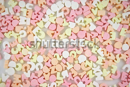 Candy Letters 3 Stock photo © PokerMan