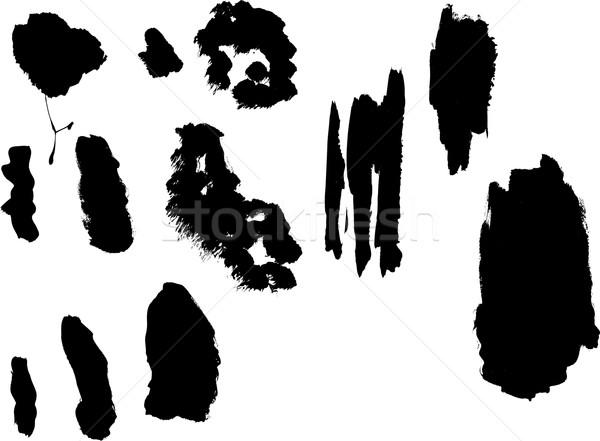 Grunge elements - Thick Paint Dawbs Stock photo © PokerMan