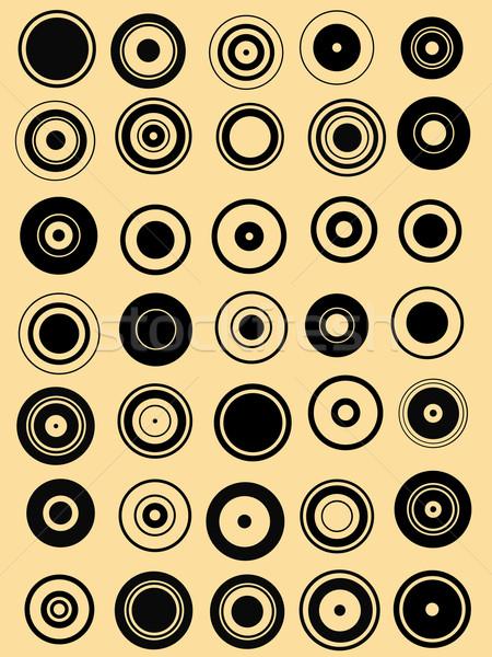 Cercle graphique transparent peuvent Photo stock © PokerMan