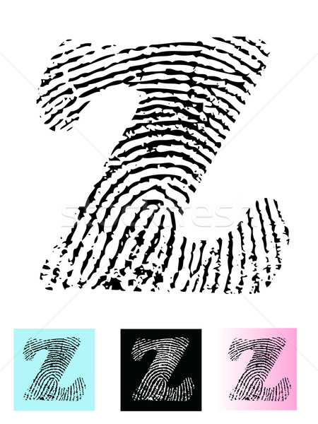 Fingerprint Alphabet Letter Z Stock photo © PokerMan