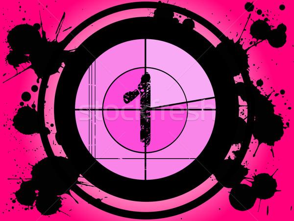 Pink Film Countdown - At 1 Stock photo © PokerMan