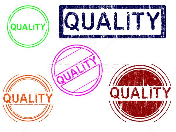 Гранж марок качество эффект служба штампа Сток-фото © PokerMan