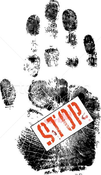 полный остановки безопасности печать чернила информации Сток-фото © PokerMan