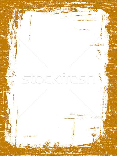 Grunge frontière design peinture Photo stock © PokerMan