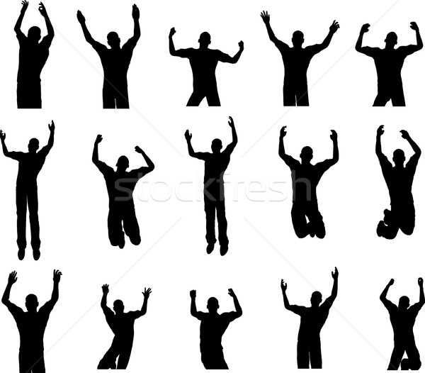 Stock photo: 15 Male Dance Poses