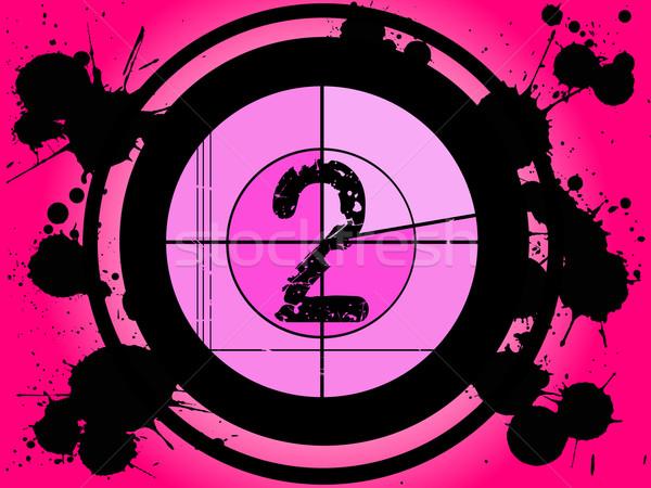 Pink Film Countdown - At 2 Stock photo © PokerMan