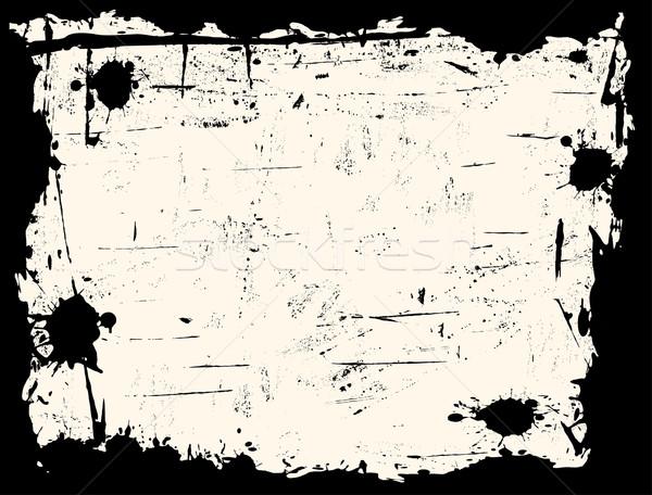 Noir frontière papier texture design peinture Photo stock © PokerMan