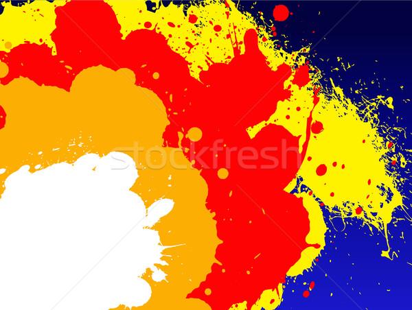 сверхновая звезда цвета Гранж темно солнце краской Сток-фото © PokerMan