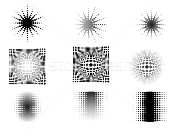 9 Circular Fades 6 Stock photo © PokerMan