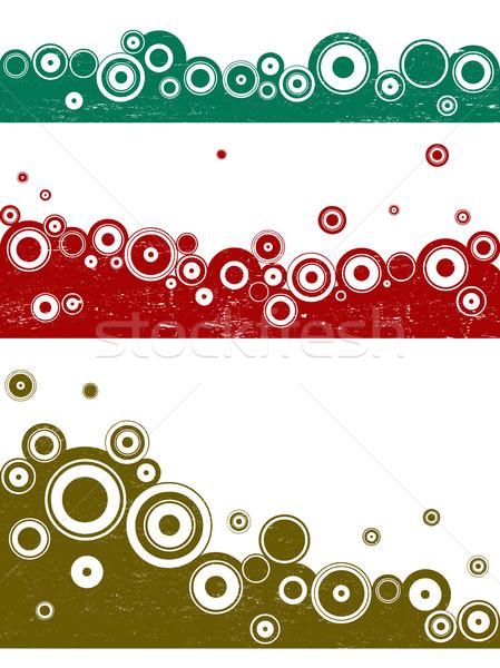 3 Grunge Landscape Circle elements Stock photo © PokerMan