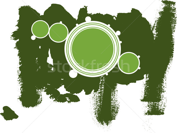 Green Circles with Dark Green grunge background Stock photo © PokerMan