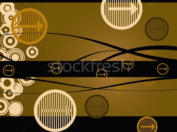 коричневый Стрелки вектора цветами компьютер Сток-фото © PokerMan