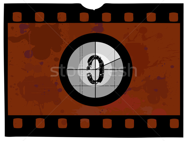 Film Countdown - At 0 Stock photo © PokerMan