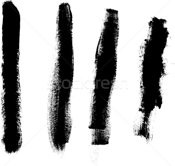 Grunge elements - 4 Thick Lines Stock photo © PokerMan