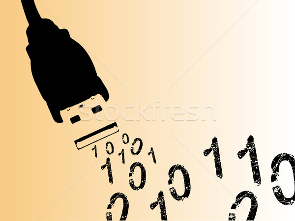 Computer Cables with Binary Numbers Stock photo © PokerMan