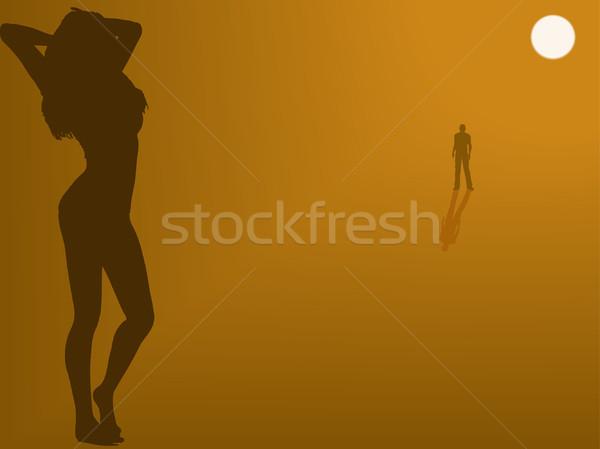 мне человека расстояние Babe воды тело Сток-фото © PokerMan