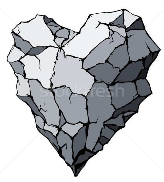 Stone heart Stock photo © polygraphus