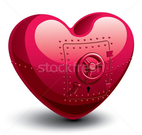 Veilig hart vorm eps8 georganiseerd lagen Stockfoto © polygraphus